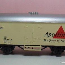 Trenes Escala: MARKLIN H0 - 80 DB - VAGÓN CERRADO APOLLINARIS. Lote 65785754