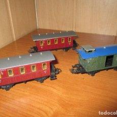 Trenes Escala: TREN H0. LOTE DE 3 VAGONES MARKLIN. Lote 73019411