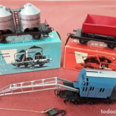 Trenes Escala: LOTE DE 3 VAGONES MARKLIN. HOJALATA. ESC H0. ALEMANIA. CIRCA 1960.. Lote 88097440