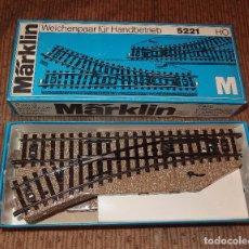 Trenes Escala: PAREJA DE DESVÍOS,TREN MARKLIN,ESCALA HO,CAJA ORIGINAL,AÑOS 60. Lote 212991973