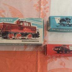 Trenes Escala: LOCOMOTORA MARKLIN Y VAGONES. Lote 91001742