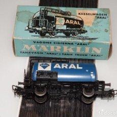 Trenes Escala: MARKLIN: VAGÓN CISTERNA ARAL 4646. Lote 94598111