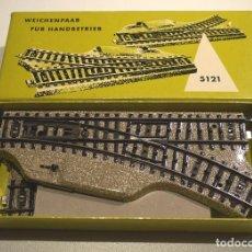 Trenes Escala: MARKLIN DESVÍOS MANUALES 5121. Lote 101207887