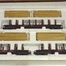 Trenes Escala: MARKLIN SET DE VAGONES MADERA DB 4516 . Lote 103726015