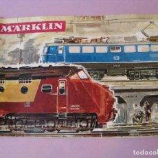 Trenes Escala: CATALOGO TRENES MARKLIN EN ESPAÑOL CON SELLO DE LA TIENDA. 1965.. Lote 103863067