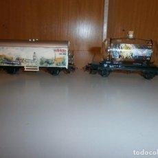 Trenes Escala: LOTE DE 2 VAGONES MARKLIN HO VER FOTOS. Lote 105183291