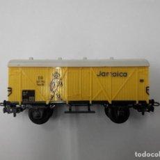 Trenes Escala: MARKLIN ANTIGUO VAGÓN JAMAICA, PLATAFORMA METAL. H0. Lote 109242955