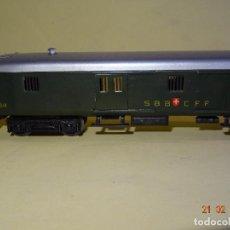 Trenes Escala: ANTIGUO FURGÓN METÁLICO 4 PUERTAS CORREDERAS DE LA CIA. SUIZA SBB - CFF EN ESCALA *H0* DE MARKLIN. Lote 203823488
