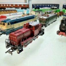 Trenes Escala: ESPECTACULAR LOTE MARKLIN - 6 LOCOMOTORAS - 19 VAGONES - CAJAS DE VÍAS - DESVÍOS Y MUCHO MAS !!. Lote 115135115