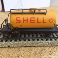 Trenes Escala: MARKLIN VAGON CISTERNA SHELL METAL H0 REF. 4502?. Lote 124201503