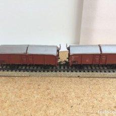 Trenes Escala: MARKLIN CONVOY 2 VAGONES MERCANCIAS H0 REF. 4619. Lote 124522655
