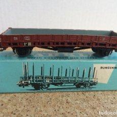 Comboios Escala: MARKLIN VAGON MERCANCIAS TELEROS H0 REF. 4607 - SIN LOS TELEROS. Lote 125431587