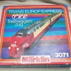 Trenes Escala: TEE, TRANS EUROP EXPRESS, TRIEBWAGEN-ZUG, MARKLIN 3071 ESC HO-AC. Lote 128319923