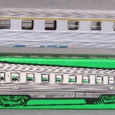 Trenes Escala: VAGÓN PASAJEROS EXPRESS SNCF MARKLIN H0 REF 4050 CON CAJA. Lote 128438027