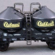 Trenes Escala: VAGÓN DOS CISTERNAS CLUBMASTER CLUBKRAFT MARKLIN H0. Lote 128439899