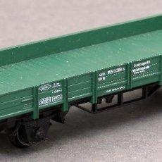 Trenes Escala: VAGÓN BORDE BAJO VERDE MARKLIN H0 . Lote 128442271