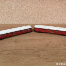 Trenes Escala: VAGÓN VAGONES PASAJEROS OVIEDO GIJON MADRID BARCELONA MARCA MARKLIN PARA RESTAURAR . Lote 132649794