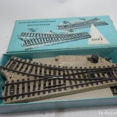 Trenes Escala: PAREJA DESVIOS ELECTRICOS ESCALA HO DE MARKLIN . Lote 134077950