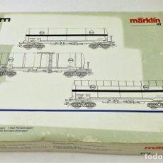 Trenes Escala: MARKLIN 4855 CONJUNTO CISTERNAS EVA. Lote 134756654