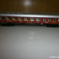 Trenes Escala: VAGON MARKLIN H0 AÑOS 60 TODO DE METAL. Lote 139082394