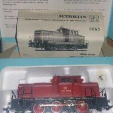 Trenes Escala: LOCOMOTORA MARKLIN MODELO 3065 CON CAJA ORIGINAL PROSPECTO Y EN PERFECTO ESTADO. Lote 139496682