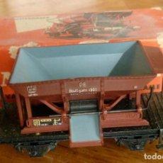 Trenes Escala: ANTIGUO VAGÓN DE TREN DE CARGA CON TOLVA MÄRKLIN MODELO 315/1 EN CAJA ORIGINAL. Lote 140164198