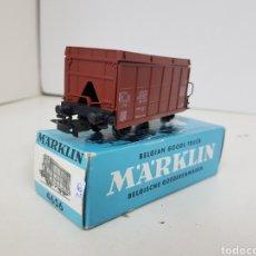 Trenes Escala: MARKLIN 4656 VAGÓN TOLVA DE MERCANCÍAS ESCALA H0 CORRIENTE ALTERNA DE 10 CM MARRÓN. Lote 140383218
