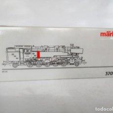 Trenes Escala: MÄRKLIN 37095 LOCOMOTORA VAPOR HO CLASE 85 DE LA DB DIGITAL, CORRIENTE ALTERNA, COMO NUEVA.. Lote 140486034