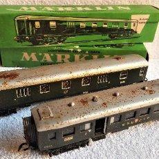 Trenes Escala: MARKLIN H0 VAGONES TREN METAL 4015 Y 4026 EN CAJA ORIGINAL. Lote 143044362