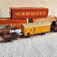 Trenes Escala: MARKLIN H0 VAGONES TREN METAL 4509, 4610 Y 4616 EN CAJA ORIGINAL. Lote 143044934