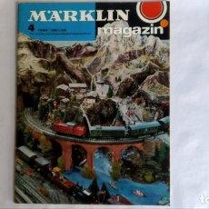 Trenes Escala: MAGAZIN MÄRKLÍN 4 / 1968 Y NOVEDADES 1978 Y 1979. Lote 143787162