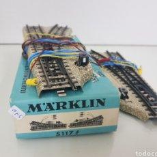 Treni in Scala: MARKLIN VÍA METÁLICA LOTE DE 2 DESVÍOS 5117. Lote 144188761
