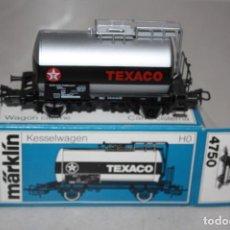 Trenes Escala: ANTIGUO A ESTRENAR VAGÓN CISTERNA TEXACO DE MARKLIN.. Lote 147574222