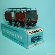 Trenes Escala: MARKLIN REF 4612, VAGON PORTACOCHES METÁLICO DB EN CAJA ORIGINAL. Lote 149474682