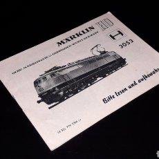 Trenes Escala: MANUAL INSTRUCCIONES LOCOMOTORA 3053, MÄRKLIN H0, VARIOS IDIOMAS INCLUIDO ESPAÑOL, ORIGINAL AÑOS 60.. Lote 151821646