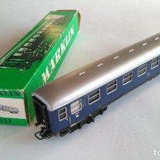 Trenes Escala: MARKLIN METAL REF 4027, VAGÓN COCHE DE PASAJEROS 1ª ,AZUL. EN CAJA. . Lote 152357498