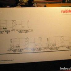 Trenes Escala: SET CAJA DE 3 VAGONES CISTERNAS COMBUSTIBLE MARKLIN HO REF:47906 INSAIDER LIMITADO NUEVO A ESTRENAR. Lote 154381758