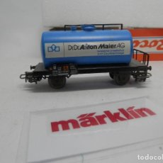 Trenes Escala: VAGÓN CISTERNA ESCALA HO DE MARKLIN . Lote 156559190