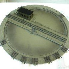 Trenes Escala: MARKLIN H0 PLATAFORMA GIRATORIA ELECTRICA, PARA LOCOMOTORAS, REFERENCIA 7186.. Lote 156759542