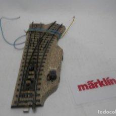 Trenes Escala: DESVIO ELECTRICO DERECHO ESCALA HO DE MARKLIN . Lote 157039626