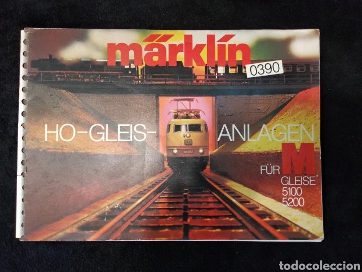 CATÁLOGO TRENES MARKLIN H0 GLEIS ANLAGEN 0390 EN ALEMÁN AÑOS 70 (Juguetes - Trenes a Escala - Marklin H0)