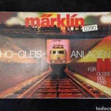 Trenes Escala: CATÁLOGO TRENES MARKLIN H0 GLEIS ANLAGEN 0390 EN ALEMÁN AÑOS 70. Lote 159428788