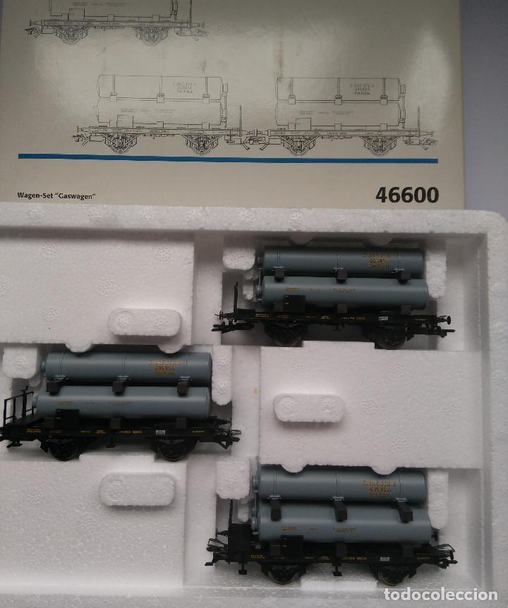 MARKLIN HO RF 46600 CONJUNTO DE 3 VAGONES PARA TRANSPORTE GAS (Juguetes - Trenes a Escala - Marklin H0)