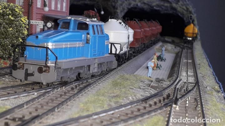 Trenes Escala: Maqueta Artesanal - Marklin H0 - Via Tipo C - 12 Desvíos, 2 Semáforos, 2 Estaciones, 1 Apeadero, etc - Foto 10 - 165636178