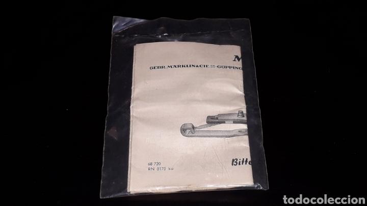 Trenes Escala: Patín + equipo iluminación para coches viajeros ref. 7198, Märklin H0 1/87 made in Germany, años 60. - Foto 2 - 169137220