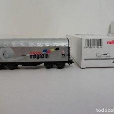 Trenes Escala: MÄRKLIN H0 47201 VAGÓN CUBIERTA DE CARGA MAGAZINE NUEVO OVP. Lote 175022615