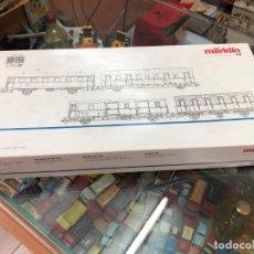 Trenes Escala: SET 4 VAGONES SIN USO CON CAJA FABRICADA POR MARKLIN HO REF 43971. Lote 175042129