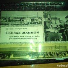 Trenes Escala: RARO CATALOGO MARKLIN -- TRENES Y JUGUETES -- EN CASTELLANO. Lote 175042667