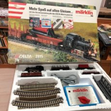 Trenes Escala: TREN COMPLETO MARKLIN ESCALA H0 CON CAJA NO JUGADO DELTA 2915 MADE IN GERMANI . Lote 175046258