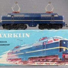 Comboios Escala: LOCOMOTORA ELÉCTRICA MARKLIN H0 CON CAJA REF 3051 FUNCIONA. Lote 176000993